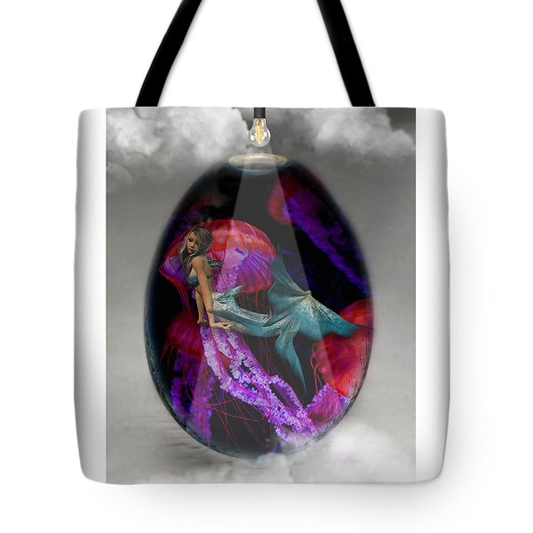 Sea Creature Mermaid Jellyfish Art Tote Bag