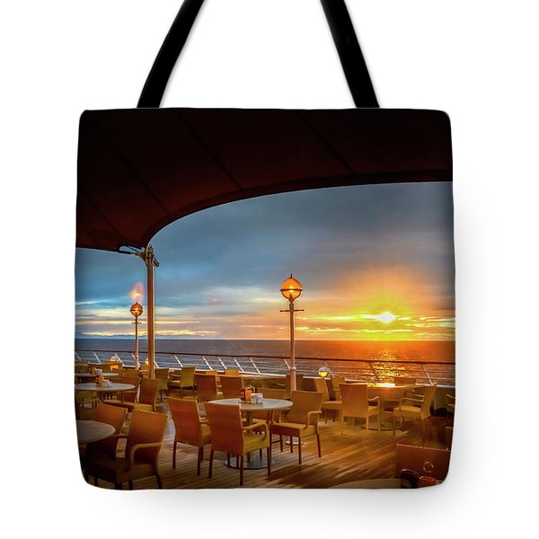 Tote Bag featuring the photograph Sea Cruise Sunrise by John Poon