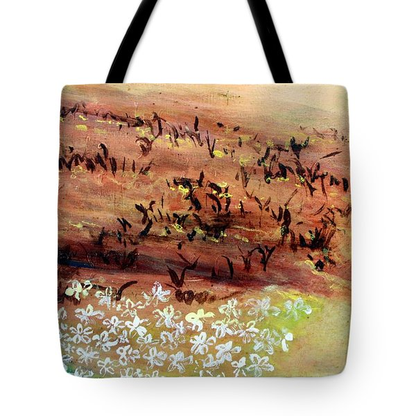 Tote Bag featuring the painting Sea Earth  by Winsome Gunning
