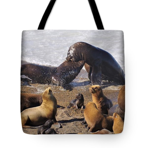 Sea Elephants Tote Bag