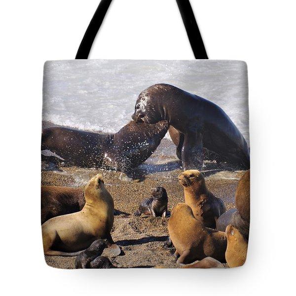 Sea Elephants Tote Bag