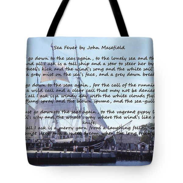 Sea Fever Tote Bag