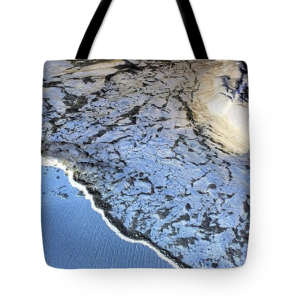 Sea Foam Shoreline Tote Bag