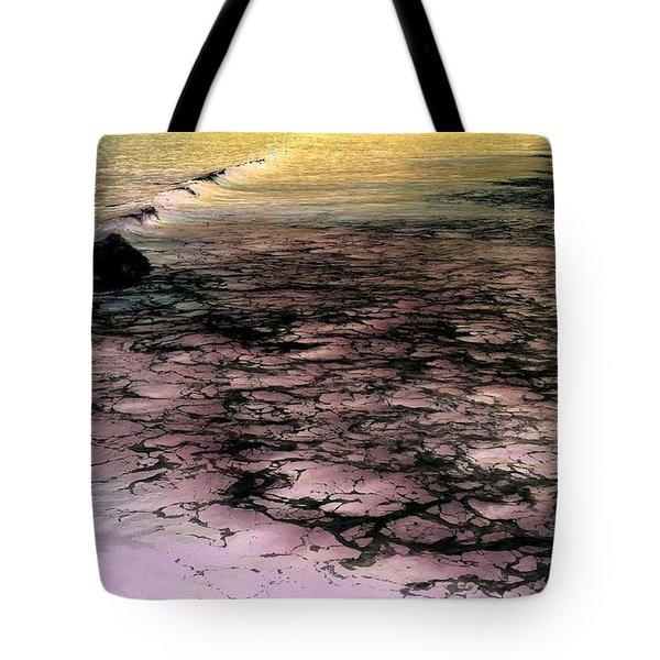 Sea Foam Waves Tote Bag