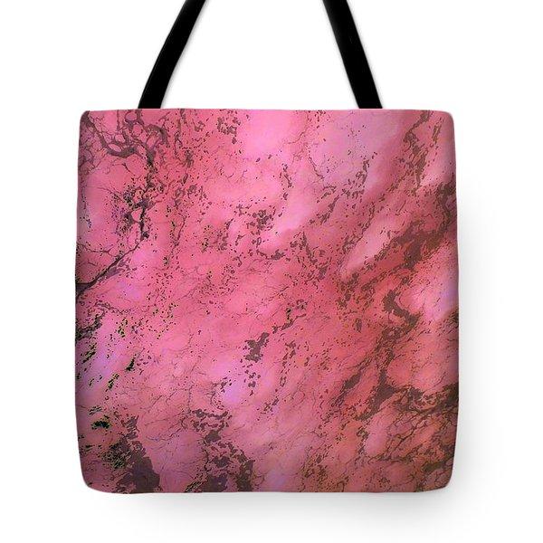 Sea Foam In Pink Tote Bag