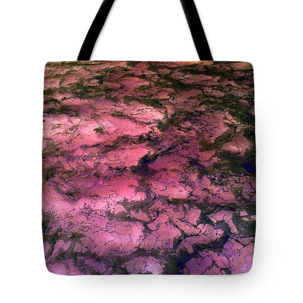 Sea Foam Pinkish Black Tote Bag