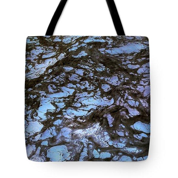 Sea Foam Black And Blue Tote Bag