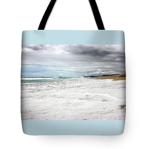 Tote Bag featuring the photograph Sea Foam And Clouds By Kaye Menner by Kaye Menner