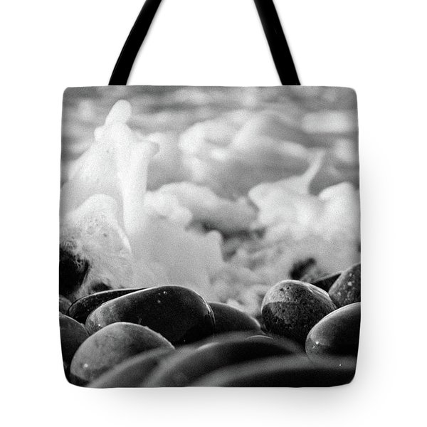 Sea Foam B-w Tote Bag