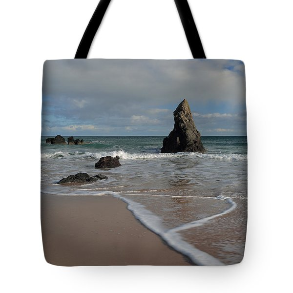Sea Foam On Sango Bay Tote Bag