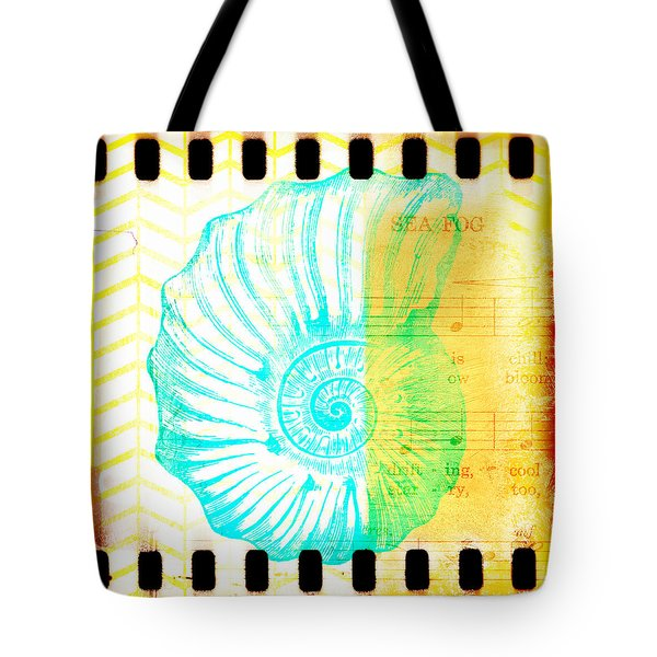 Sea Fog Nautilus Tote Bag
