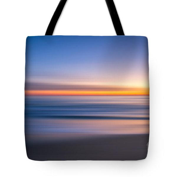 Sea Girt New Jersey Abstract Seascape Sunrise Tote Bag