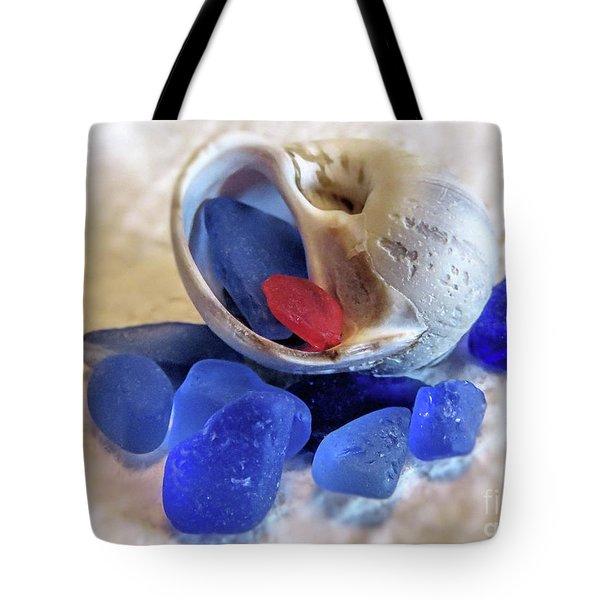 Sea Glass And Snail Shell  Tote Bag
