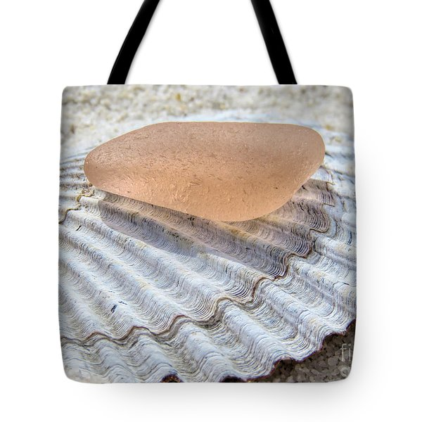 Sea Glass In Pink Blush  Tote Bag