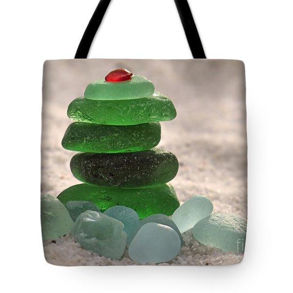 Sea Glass Tree Tote Bag