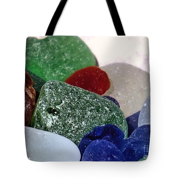 Sea Glass Up Close Tote Bag