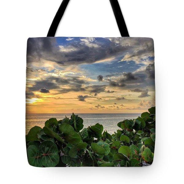 Sea Grape Sunrise Tote Bag