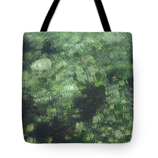 Sea Green Abstract Tote Bag