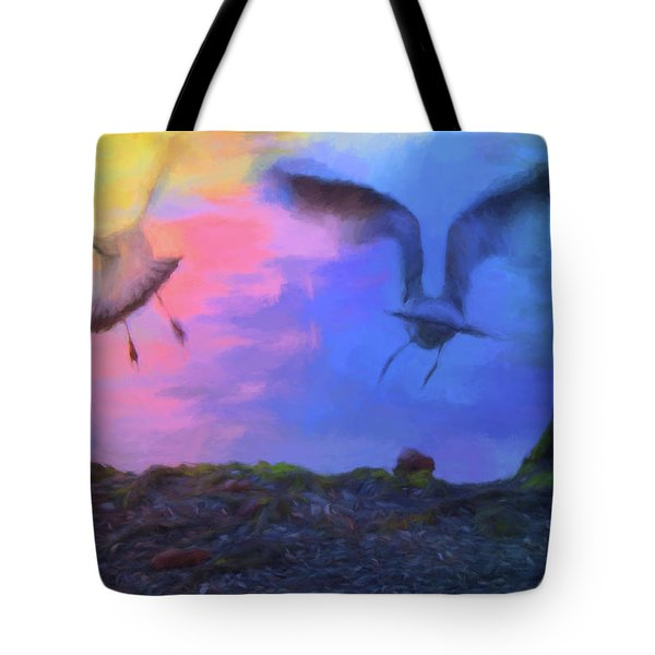 Tote Bag featuring the photograph Sea Gull Abstract by Jan Amiss Photography