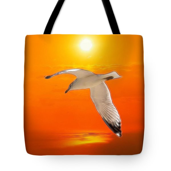 Tote Bag featuring the photograph Sea Gull by Athala Carole Bruckner