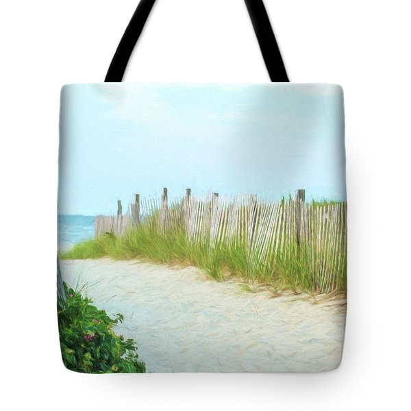 Sea Gull Beach #1 Tote Bag