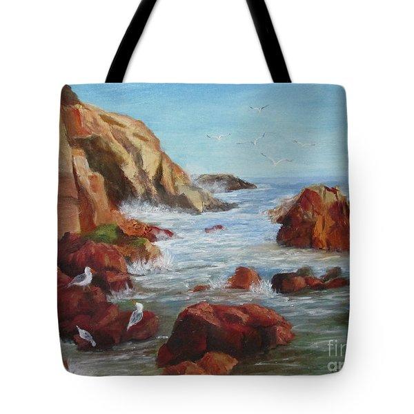 Sea Gulls Tote Bag