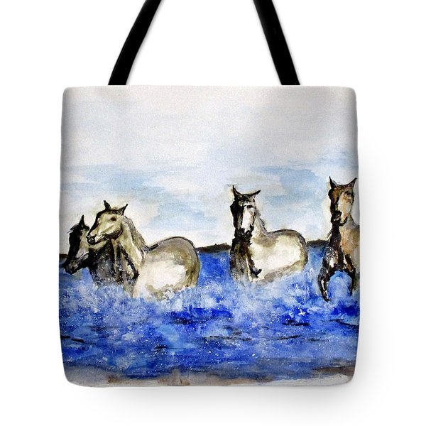 Sea Horses Tote Bag