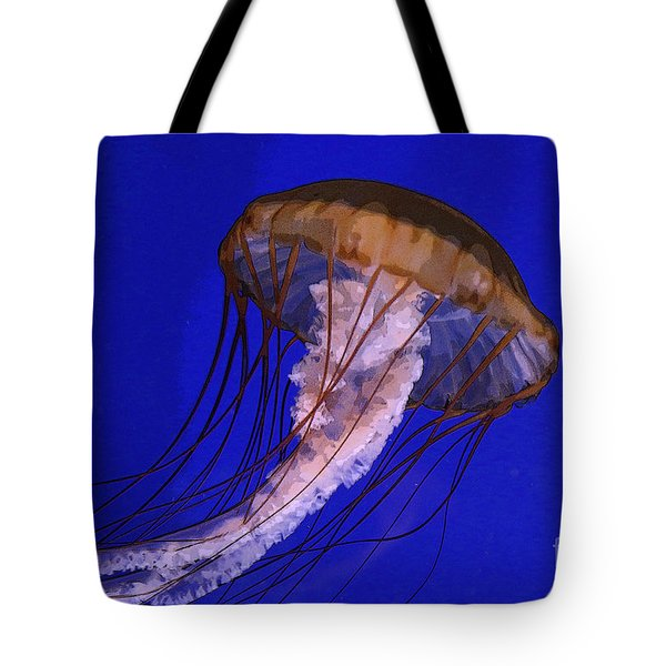 Tote Bag featuring the photograph Sea Jelly by Jeanette French
