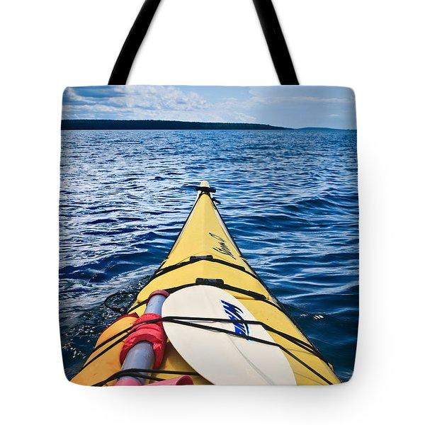 Sea Kayaking Tote Bag by Steve Gadomski