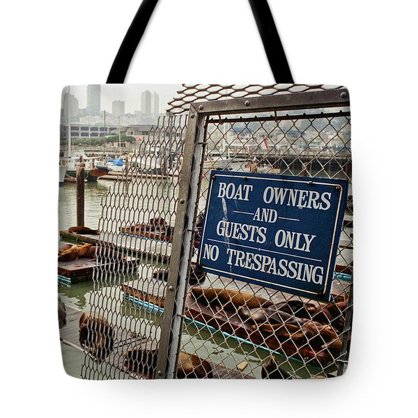 Sea Lions Take Over, San Francisco Tote Bag