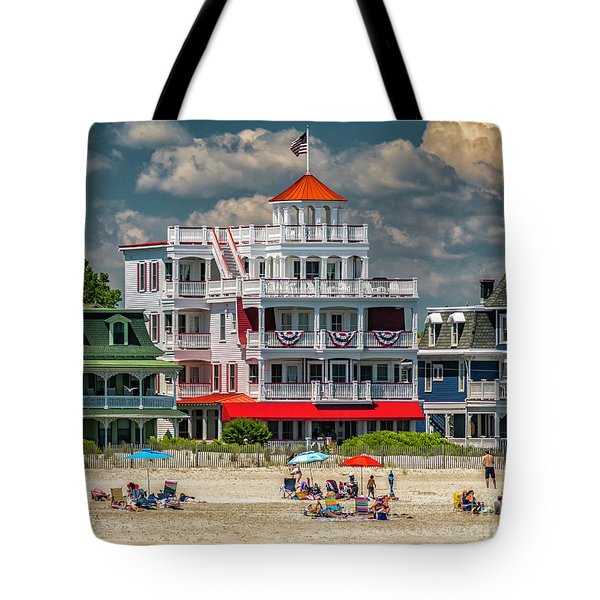 Sea Mist Hotel Tote Bag