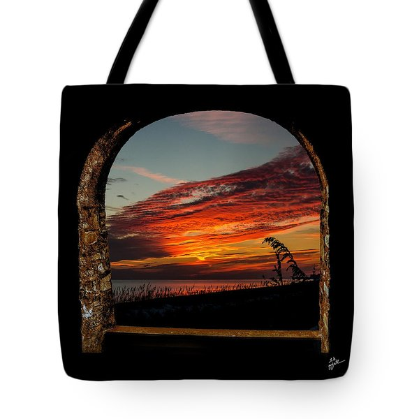 Sea Oats And Sunset Tote Bag