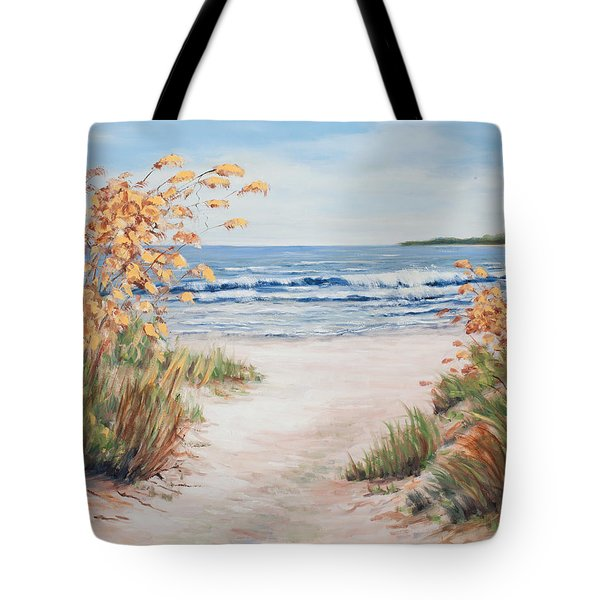 Sea Oats And Sunshine Tote Bag
