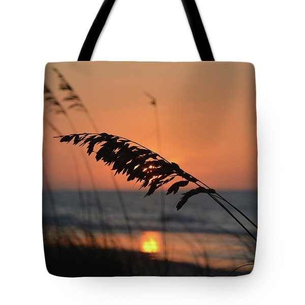Sea Oats At Sunrise Tote Bag by Gordon Mooneyhan