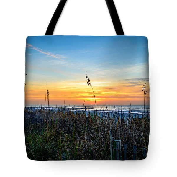 Sea Oats Sunrise Tote Bag
