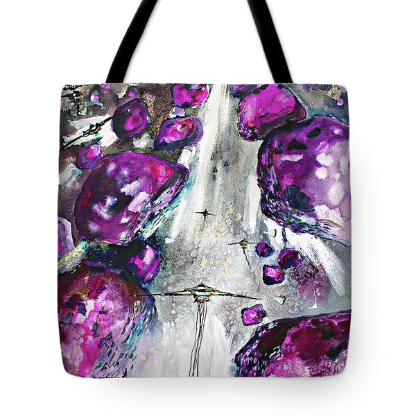 Sea Of Amethysts Travel Log 06 Tote Bag