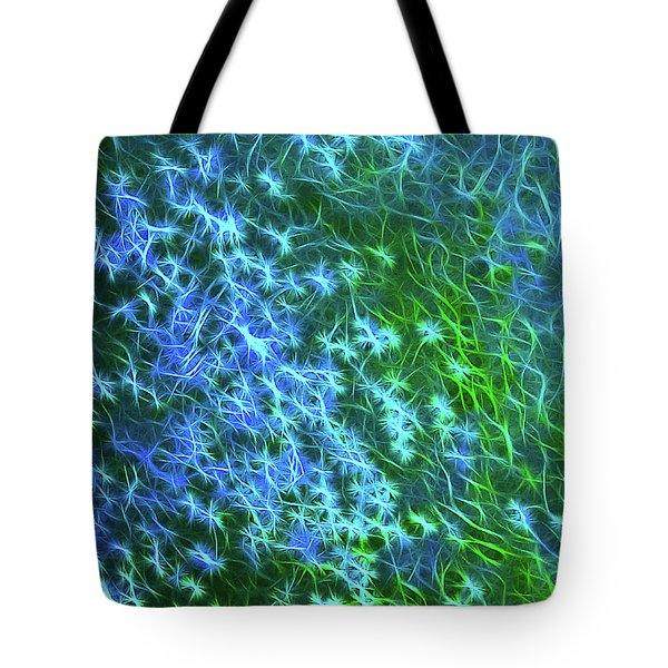 Sea Of Blue And Green Tote Bag