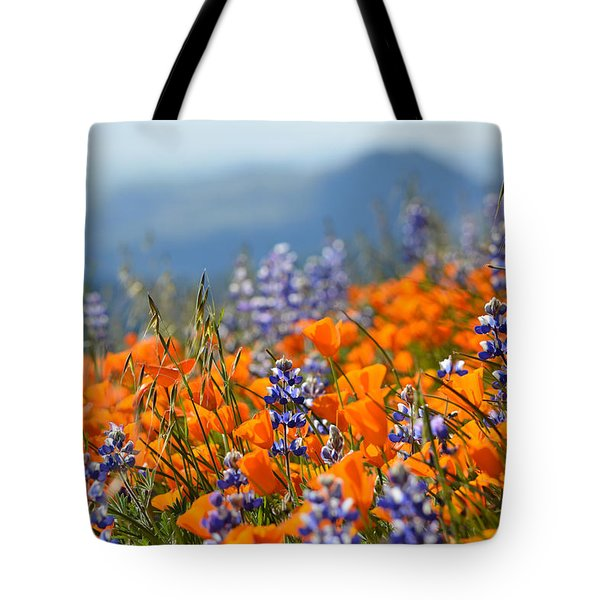 Sea Of California Wildflowers Tote Bag