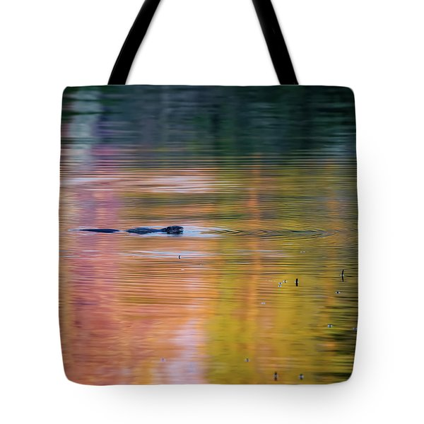 Tote Bag featuring the photograph Sea Of Color Square by Bill Wakeley