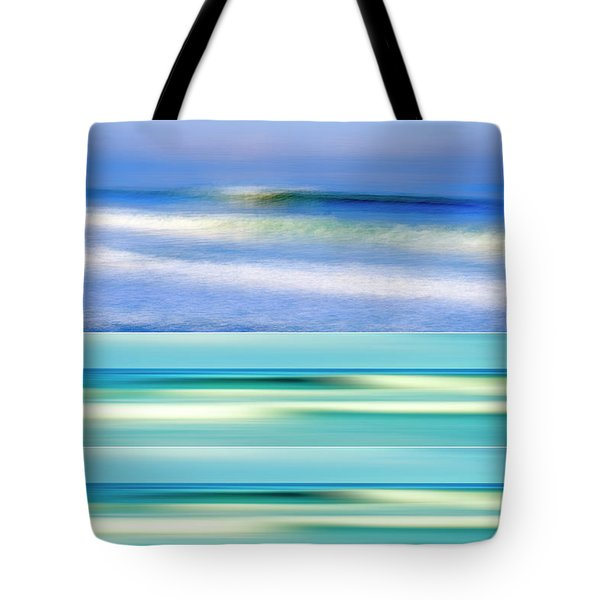 Sea Of Dreams Collage Tote Bag