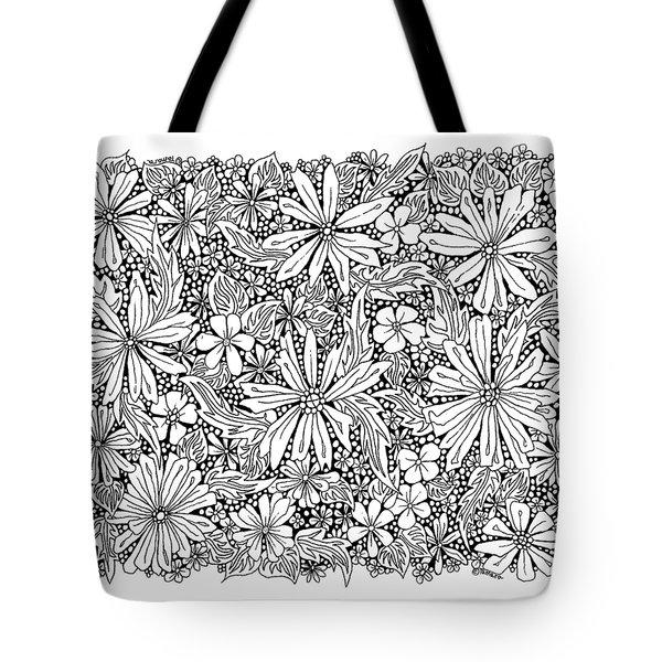 Sea Of Flowers And Seeds At Night Horizontal Tote Bag by Tamara Kulish