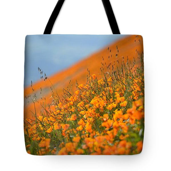 Tote Bag featuring the photograph Sea Of Poppies by Kyle Hanson