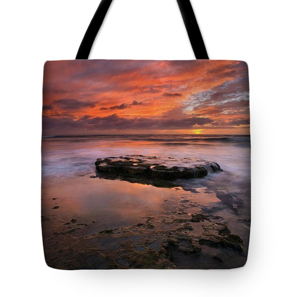 Sea Of Red Tote Bag by Mike  Dawson