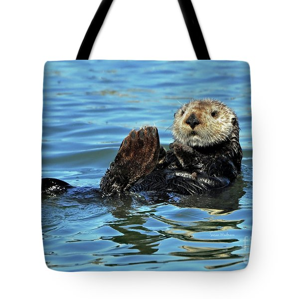 Sea Otter Primping Tote Bag