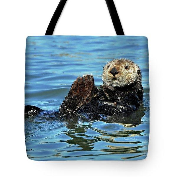 Sea Otter Primping Tote Bag