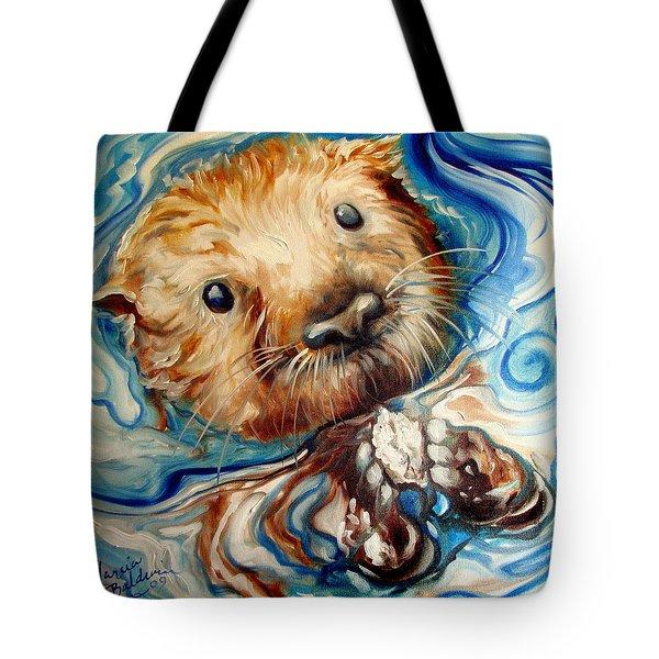 Sea Otter Swim Tote Bag