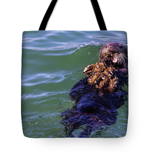 Sea Otter With Lunch Tote Bag