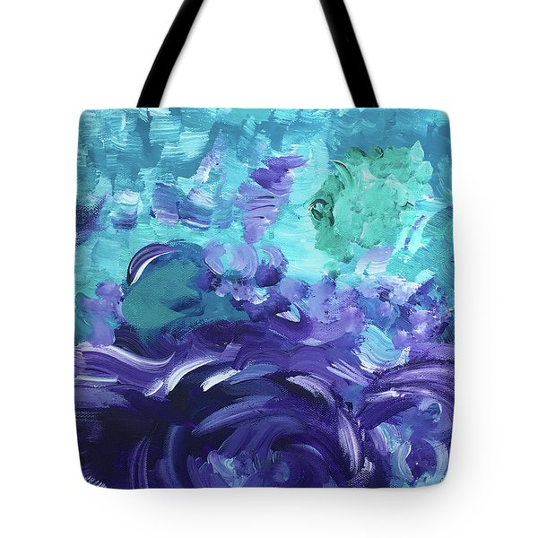 Sea Purple Tote Bag