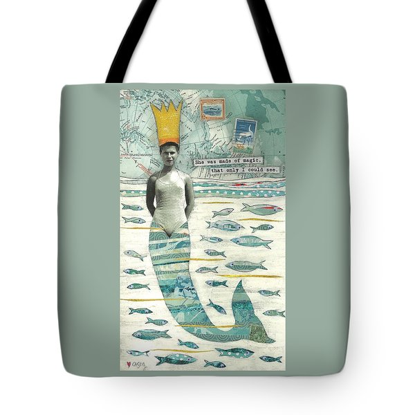 Sea Queen Tote Bag by Casey Rasmussen White