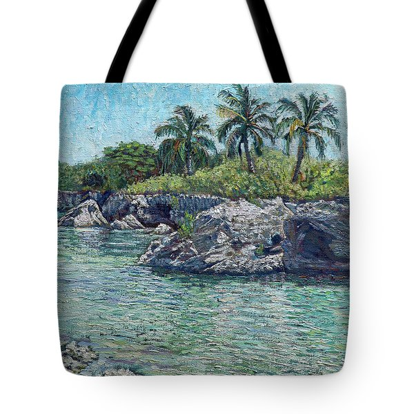 Sea Rocks And Coconuts Tote Bag